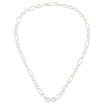 La Preciosa Sterling Silver Figaro Chain Necklace