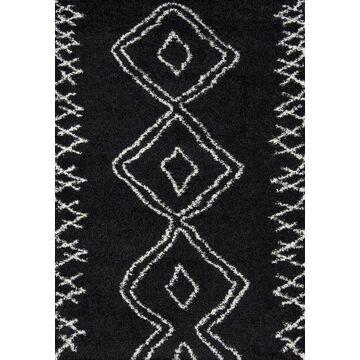 Momeni Maya 5 x 8 Black Geometric Area Rug   MAYA0MAY-1BLK5376