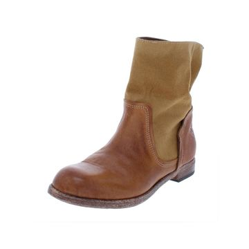 Patricia Nash Womens Sabbia Ankle Boots Canvas Leather