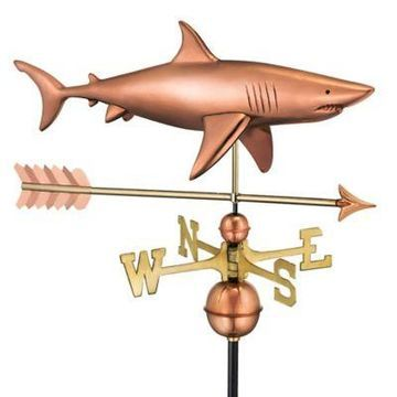 Good Directions Shark with Arrow Weathervane in Copper