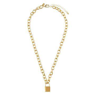 padlock-charm chain necklace