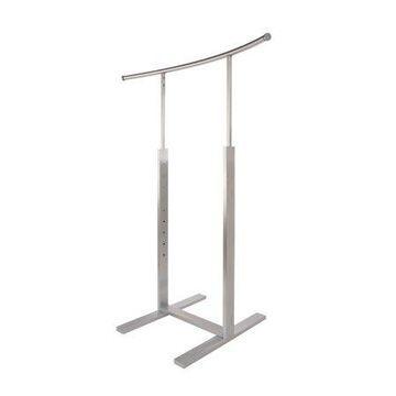 Econoco - BA45HFRSC Bauhaus Curves Series Single Bar Merchandiser with C-shaped Hangrail in Satin Chrome Finish