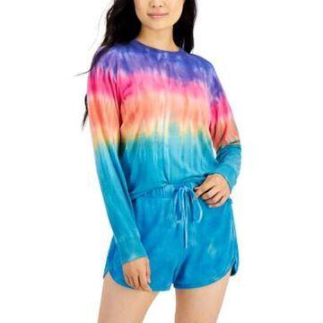 Self Esteem Juniors' 2-Pc. Tie-Dyed Cropped Top & Shorts Set