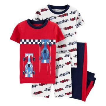 Carter's Toddler Boys Race Car Snug Fit Pajamas, 4 Piece