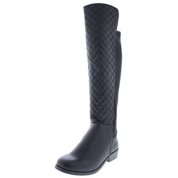 Rampage Womens Ivoly Riding Boots Stretch Knee-High