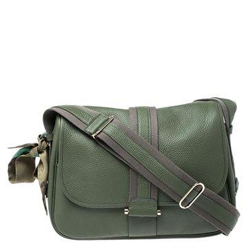 Hermes Green Togo Leather Bourlingue Messenger Bag