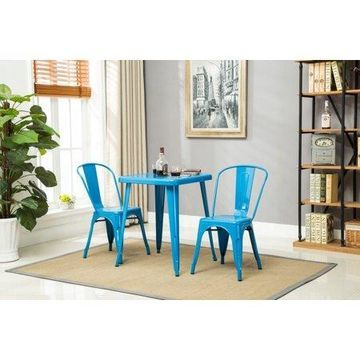 Porthos Home Stackable Indoor & Outdoor Rust-Resistant Metal Dining Chair with Back 17.5