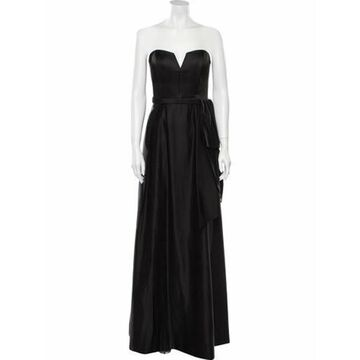 Strapless Long Dress Brown