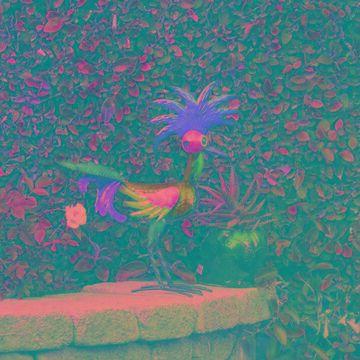 "Alpine 18"" Corporation Wacky Rooster Garden Statue"