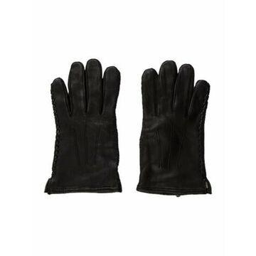 Whipstitch Leather Gloves black