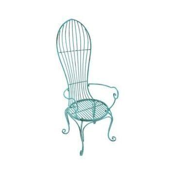 Design Toscano Balloon Back Metal Garden Arm Chair