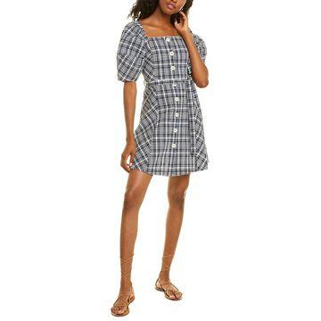 Ottod'ame Seersucker A-Line Dress