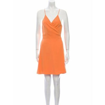 V-Neck Mini Dress w/ Tags Orange