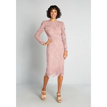 Little Mistress At First Blush Midi Dress, Size 16