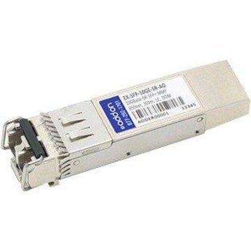AddOn Juniper Networks EX-SFP-10GE-SR Compatible TAA Compliant 10GBase-SR SFP+ Transceiver (MMF, 850nm, 300m, LC, DOM) - 100% compatible and guaranteed to work