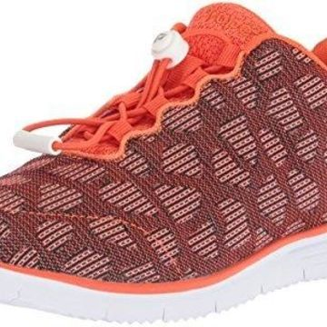 Propet Women's TravelFit Sneaker, Orange, 6 2E US