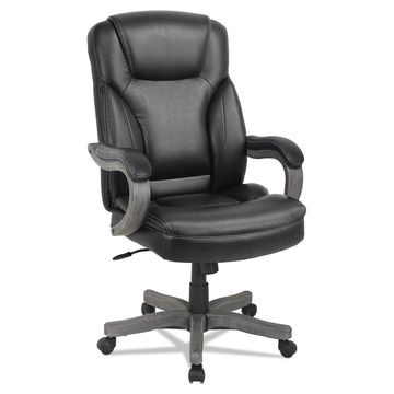 Alera Transitional Series Executive Wood Chair Black TS4119G