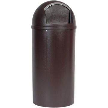 Rubbermaid Commercial Marshal Classic Container Round Polyethylene 25gal Brown