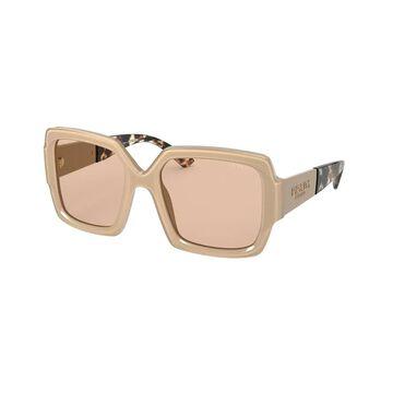 Prada PR 21XSF 06G4I2 55 Light Grey Woman Pillow Sunglasses