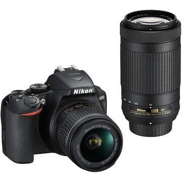 Nikon D3500 24.2MP DX-Format DSLR Digital Camera Dual Lens Kit - (Black)