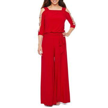 MSK 3/4 Sleeve Embellished Jumpsuit