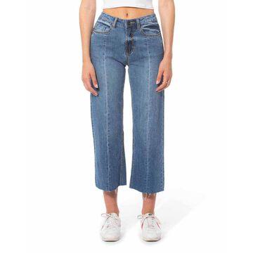 Laurel Cropped Raw Edge Denim Pants