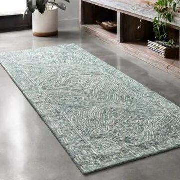 Alexander Home Aspen Denim Wool Hand-tufted Contemporary Area Rug