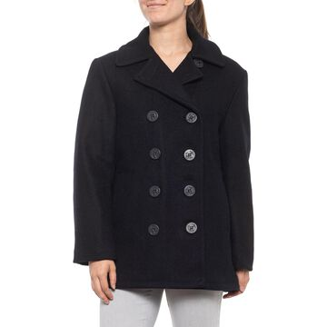 Schott Made in Canada Quilted-Lined Wool Peacoat - Insulated (For Women)