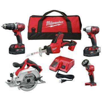 Milwaukee 2695-25P M18 5-Tool Combo Kit (3 Ah) New