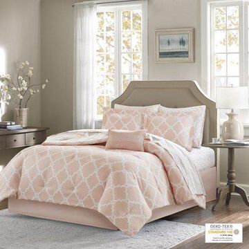 Home Essence Becker Reversible Bed in a Bag Bedding Set, Peach, King