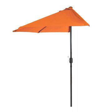 Pure Garden Orange Half Round Patio Umbrella