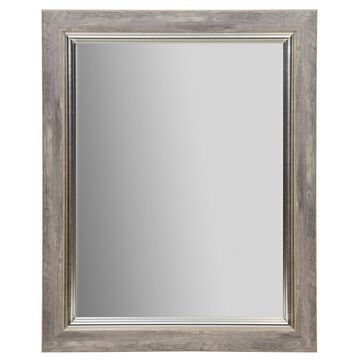 Mirror with Distressed Silver Frame By Studio Decor
