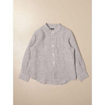 Il Gufo linen shirt with mandarin collar