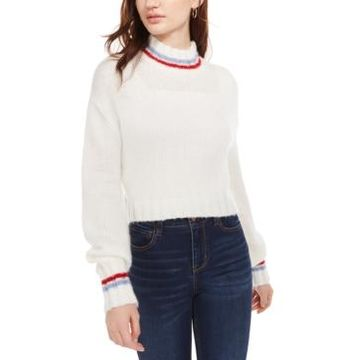 Planet Gold Juniors' Turtleneck Cropped Sweater