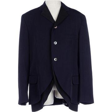 Yohji Yamamoto Navy Wool Jackets