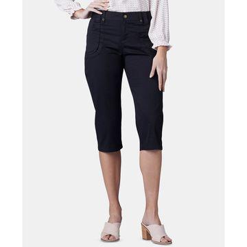 Petite Patch Pocket Capri Pants