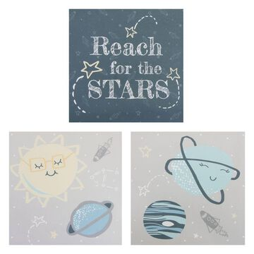 Trend Lab Happy Planets 3-Pc. Canvas Wall Art