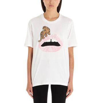 Markus Lupfer leopard Lip T-shirt