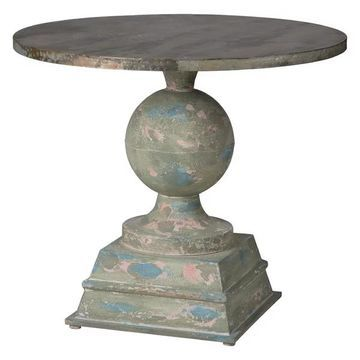 A&B Home FD38618 French Chic Garden Pedestal Table