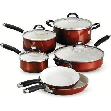 Tramontina Style 10 Piece Cookware Set, Metallic Copper