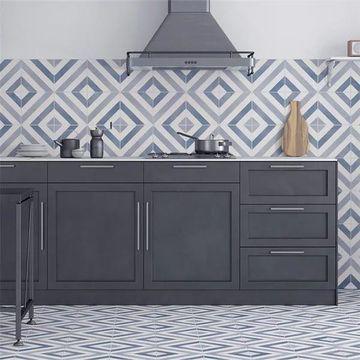 SomerTile 17.63x17.63-inch Optik Ceramic Floor and Wall Tile (5 tiles/11.02 sqft.)