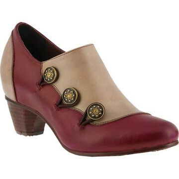 L'Artiste by Spring Step Women's Greentea Bootie Bordeaux Leather
