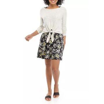 Wallflower Women's Junior's 2Fer Pullover Dress - -