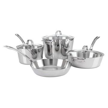 Viking Contemporary 3-Ply, 7 Pc. Cookware Set, Mirror Finish