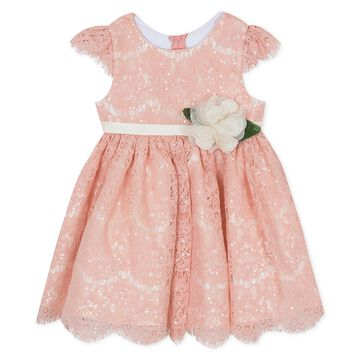 Baby Girls Sequin Lace Fit & Flare Dress