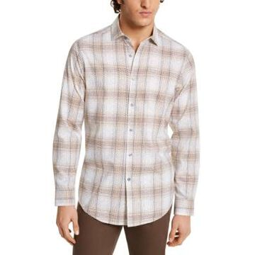 Tasso Elba Men's Stretch Printed Dobby Woven Shirt, Created For Macy's