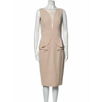 Bateau Neckline Midi Length Dress