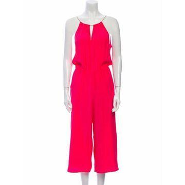 V-Neck Jumpsuit Pink