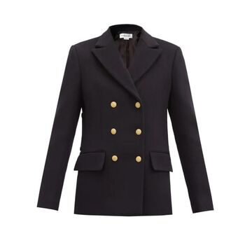 Victoria Beckham - Double-breasted Wool-blend Pea Coat - Womens - Navy