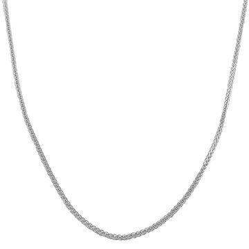 Fremada 14k White Gold 1-mm Square Wheat Chain